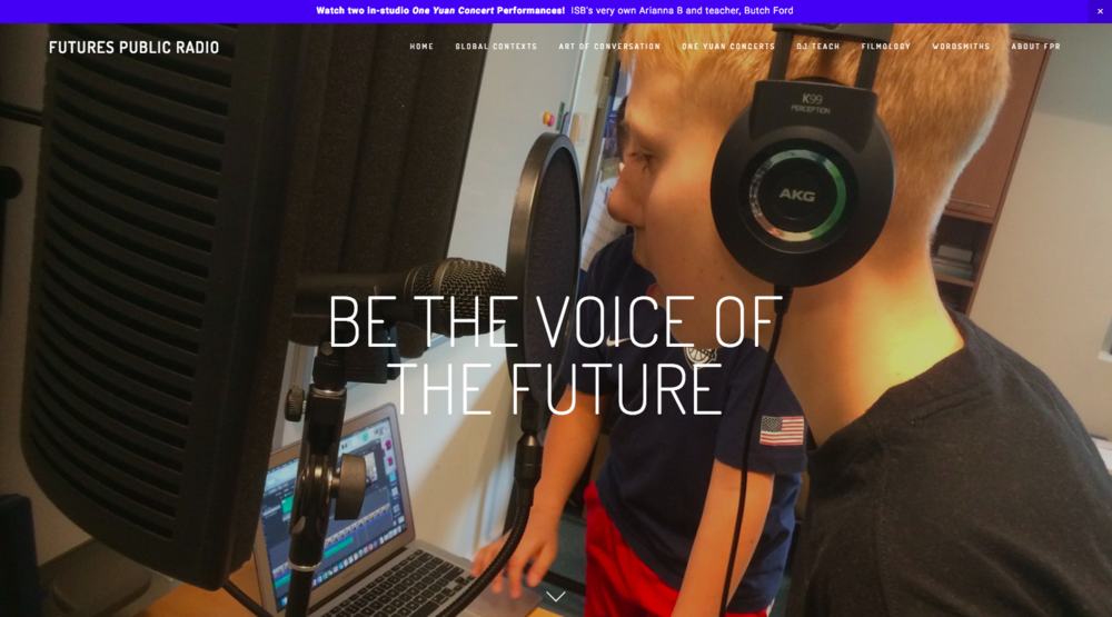 Futures Public Radio:    The Community, Student Public Radio Blueprint and Publishing Platform