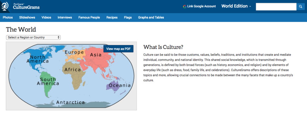 CultureGrams World Edition