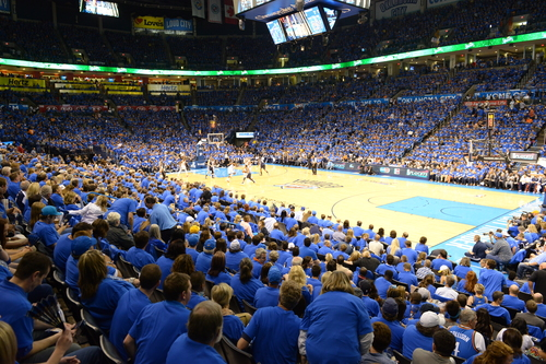 Saturday night at Chesapeake Energy Arena. Photo by Torrey Purvey for InsideThunder.com