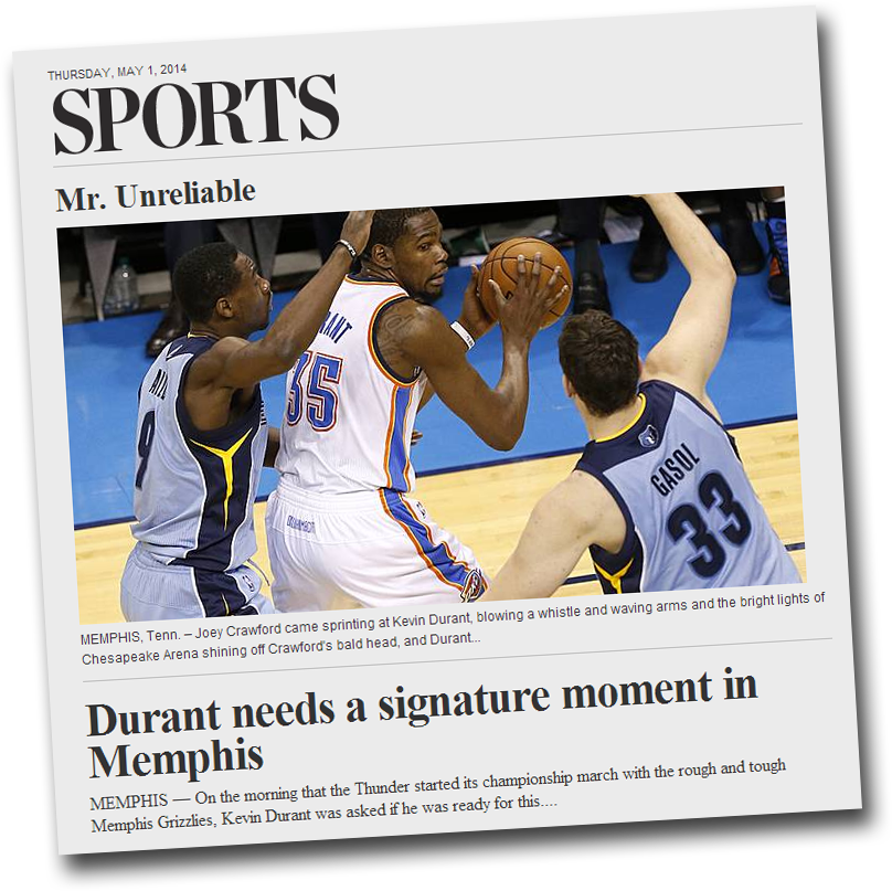 Image Screen Shot from Oklahoman.com - Sports Section
