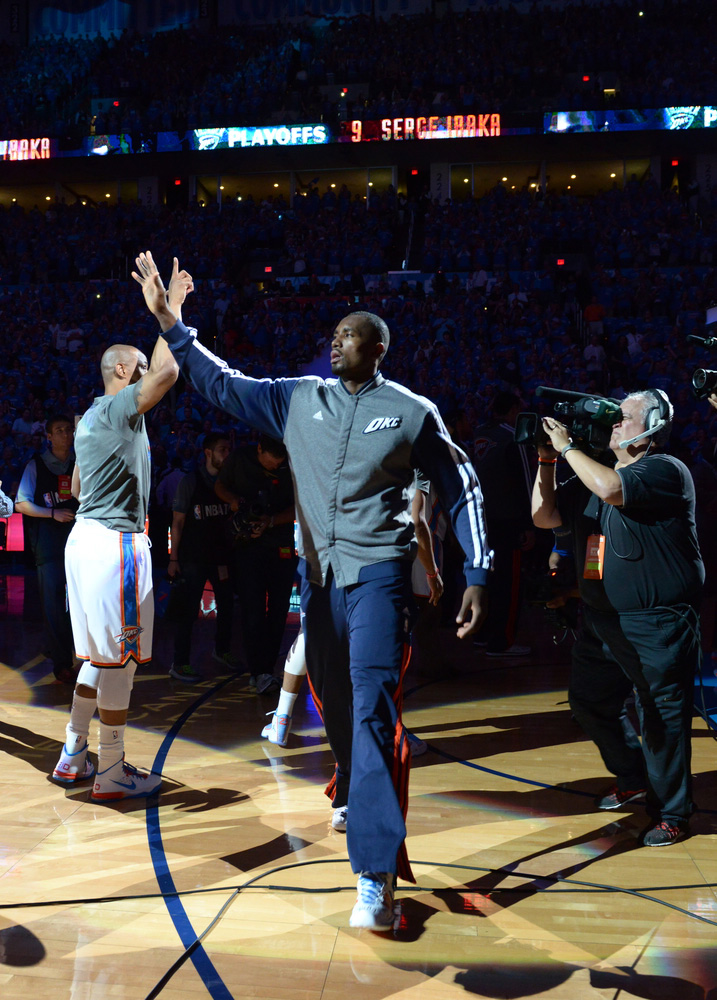 Serge Ibaka announced as a starter in Game 3 vs The Spurs - Photo by Torrey Purvey for InsideThunder.com