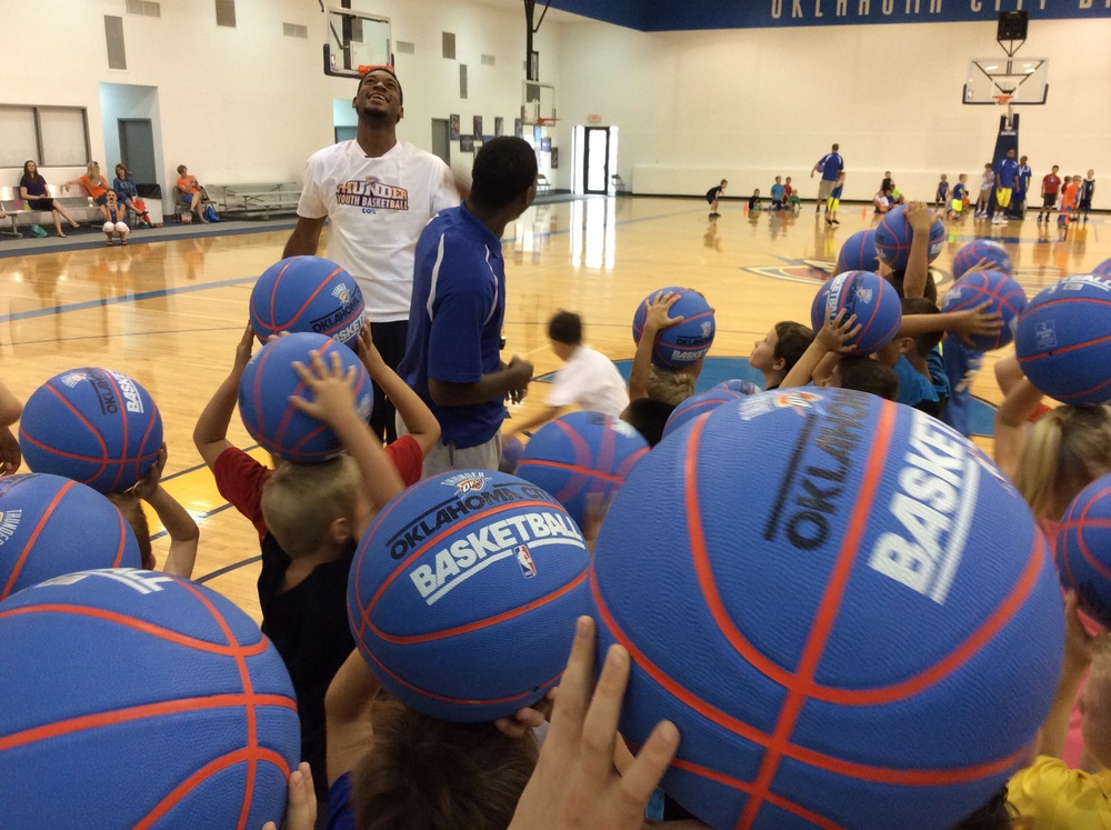 Thunder forward Perry Jones III at Tuesday's Thunder Youth Basketball Camp in Edmond. Photo by Randy Renner for InsideThunder.com