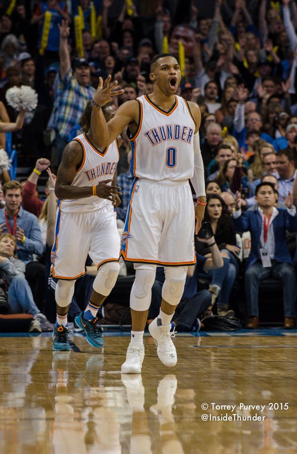 Thunder guard Russell Westbrook. Torrey Purvey/InsideThunder.com