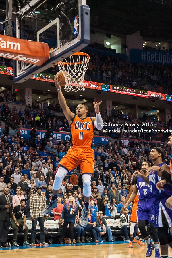 Russell Westbrook for the layup. Torrey Purvey/ InsideThunder.com