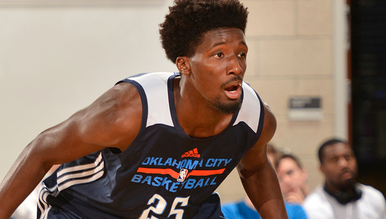 Shooting guard Daniel Hamilton playing on the Thunder's Summer league team in Orlando, Florida.