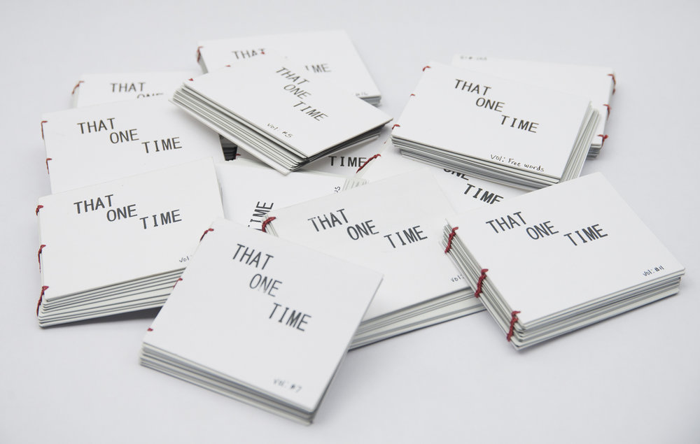 "Current Work In Progress ""That One Time"", a photo book project."