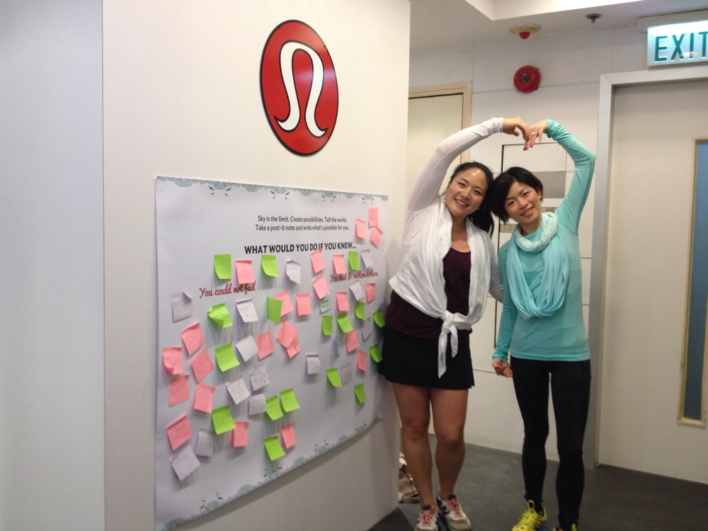 Sharing lululemon love with Tracy!