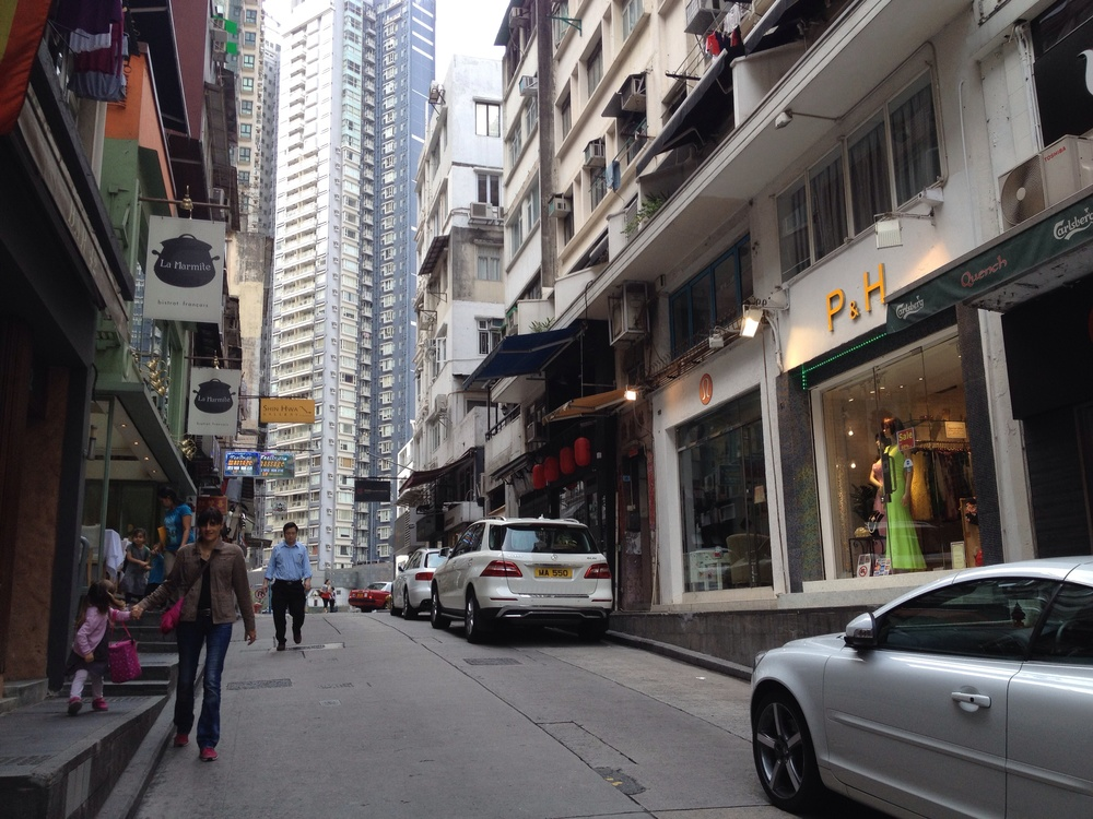 Just on the right hand side if you are walking towards Sheung Wan direction.