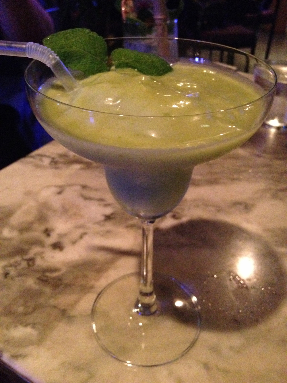 Avocado Lime Margarita - not as flavourful as I would've hoped. I prefer and recommend the Key Lime one.