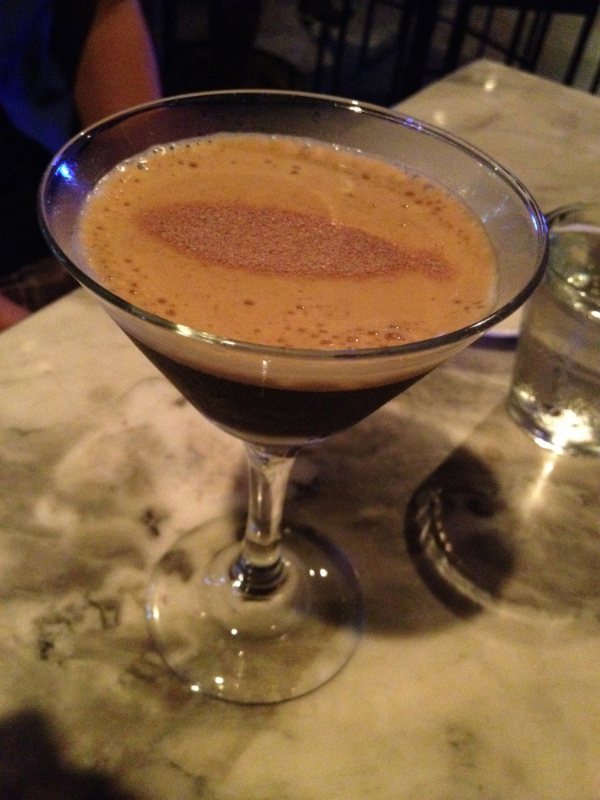 Espresso Martini. For the coffee lovers out there - this drink is delicious! I could drink this at breakfast! The flavour of coffee is well rounded, and nicely paired with the sweetness of Bailey's in the drink.