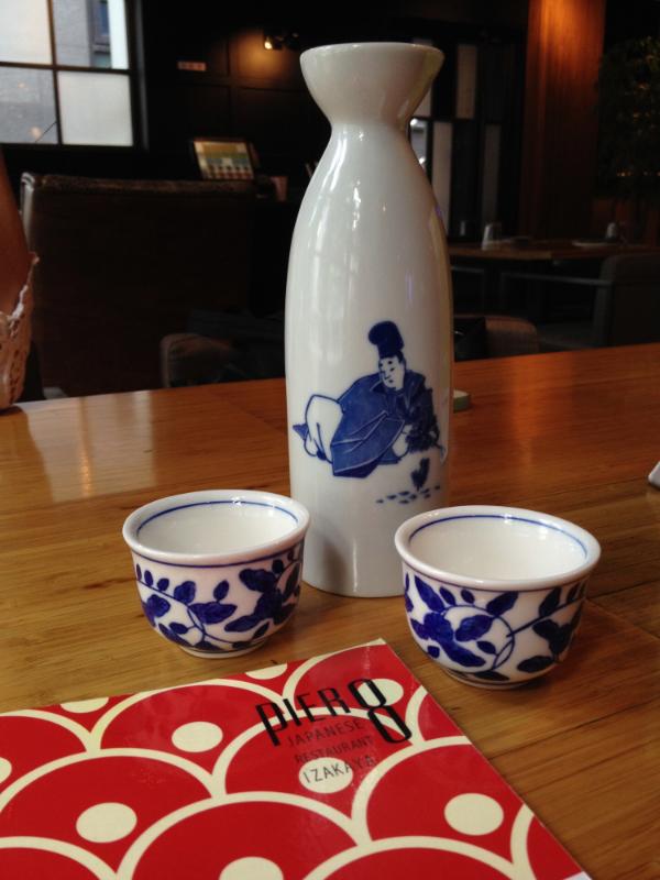Hot sake at Pier 8.