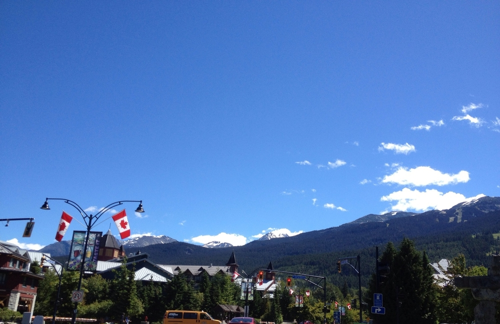 Gorgeous day up to drive up to Whistler!