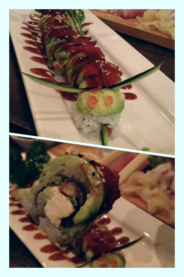 Catepillar Roll - very cute presentation and great fresh ingredients.