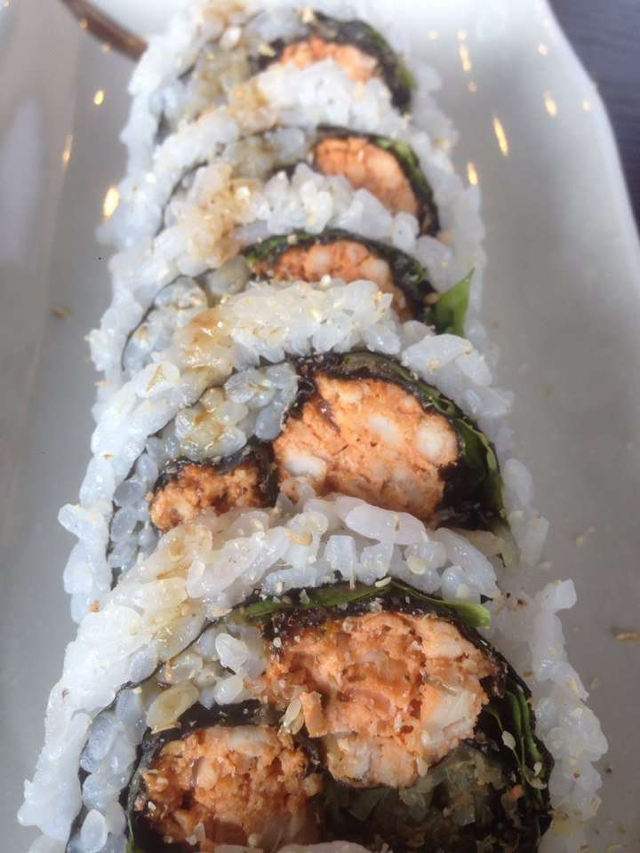 We didn't order this, but they just gave it to us for service (free) anyways! It was the spicy tuna roll that's made with cooked tuna. Why would I get my tuna cooked in a roll?