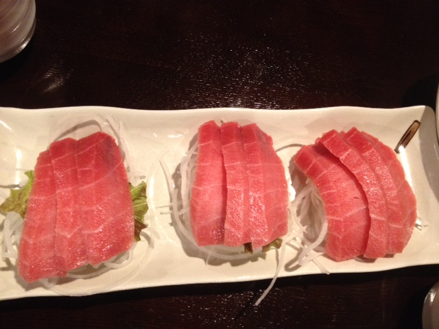 Toro belly sashimi. Was good to share.