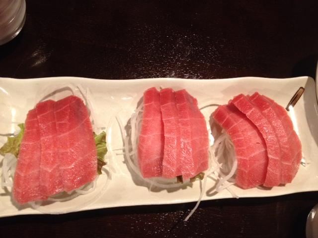 Toro belly sashimi. Was good to share.