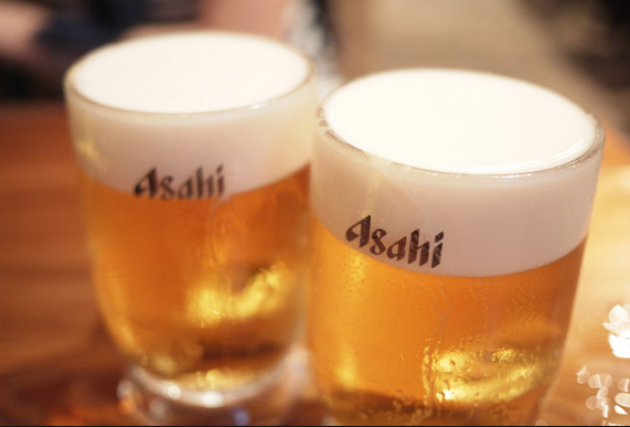 All of the above goes so well with an ice-cold Asahi draft beer.