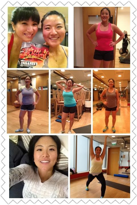 Week 1...CHECK! Location: Hong Kong, PURE fitness studio    To keep myself accountable, I'm going to take a picture of each workout (even on the 1 rest day), while representing pieces of my favourite-fit-and-function  al lululemon collection!        Thanks Marsha for being the best workout partner/motivator! Only 53 more days to go~ *^^*