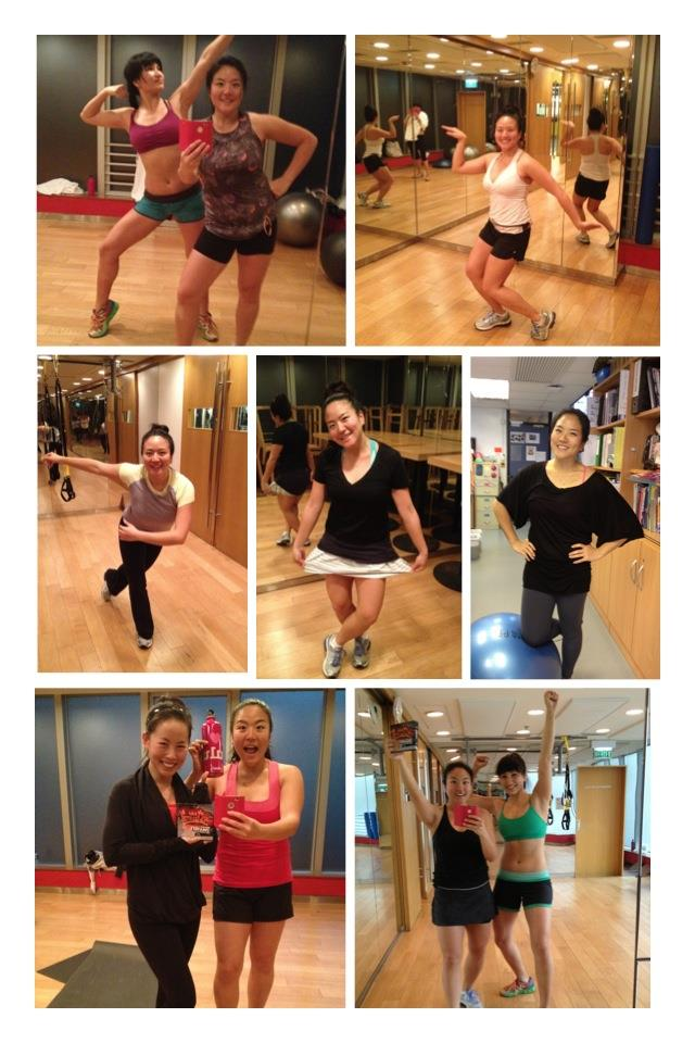 Week 9...CHECK!!! WE ARE DONE!!!!!!!!!! WOOHOO!!!  Guest appearance from 4.5 time Insanity champion, Tracy Cheng, during our last week! Me and Marsha completed our Insanity goal! *^^* and for me with lululemon love!!!