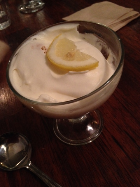 Delizia al limone - a  lemon cream dessert to finish. We hardly had room for this, but shared one anyways.