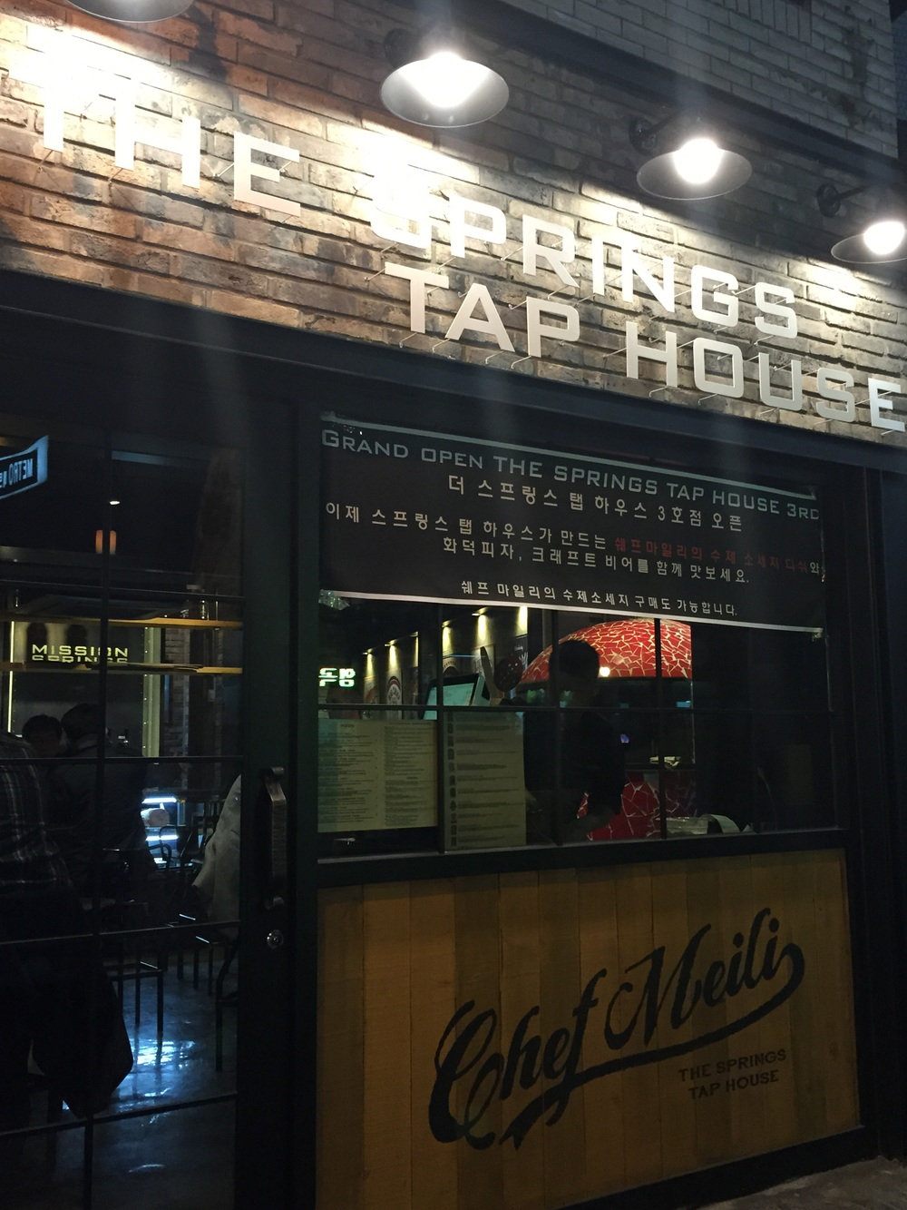 Great location, great small but cozy new joint of The Springs Tap House blended with history of ChezMeili Deli! Exact same location of where the old Chez Meili Deli was (right across from Taco Bell!)