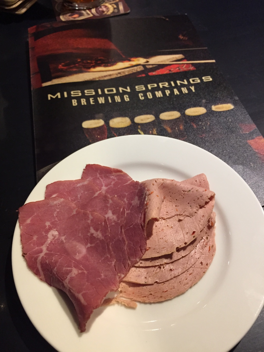 The owner brought us out a few slices of pastrami and pimento loaf cold cuts to try. These were DELICIOUS! I definitely want to come back to try a Meili Platter or one of many sandwiches they had with these great quality deli cut meats. The pastrami wasn't too salty which was a pleasant surprise!