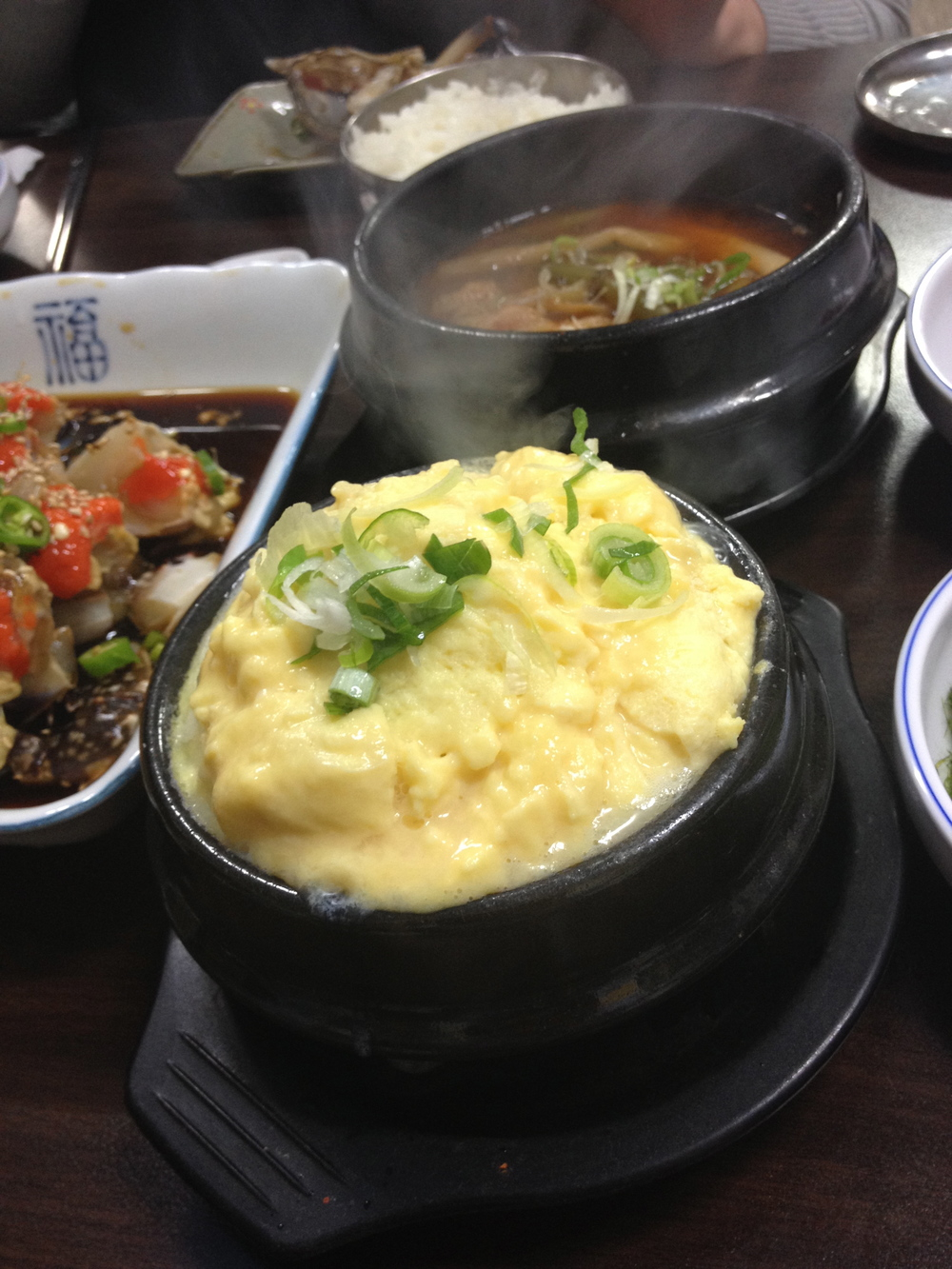 The meal also comes with a steamed egg dish in case the crab and rice isn't enough to fill you up. You have the option to also add on another soup, but there is one that comes with the meal to share included as well.