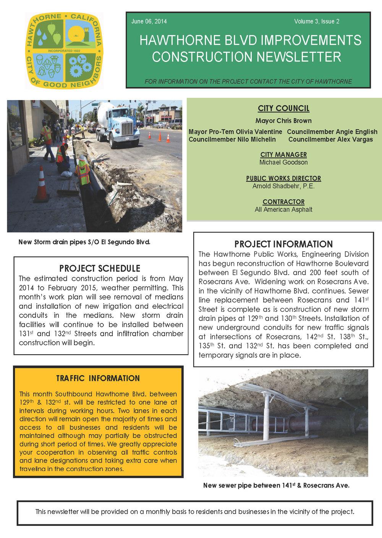 Hawthorne Blvd Improvements Newsletter June 2014