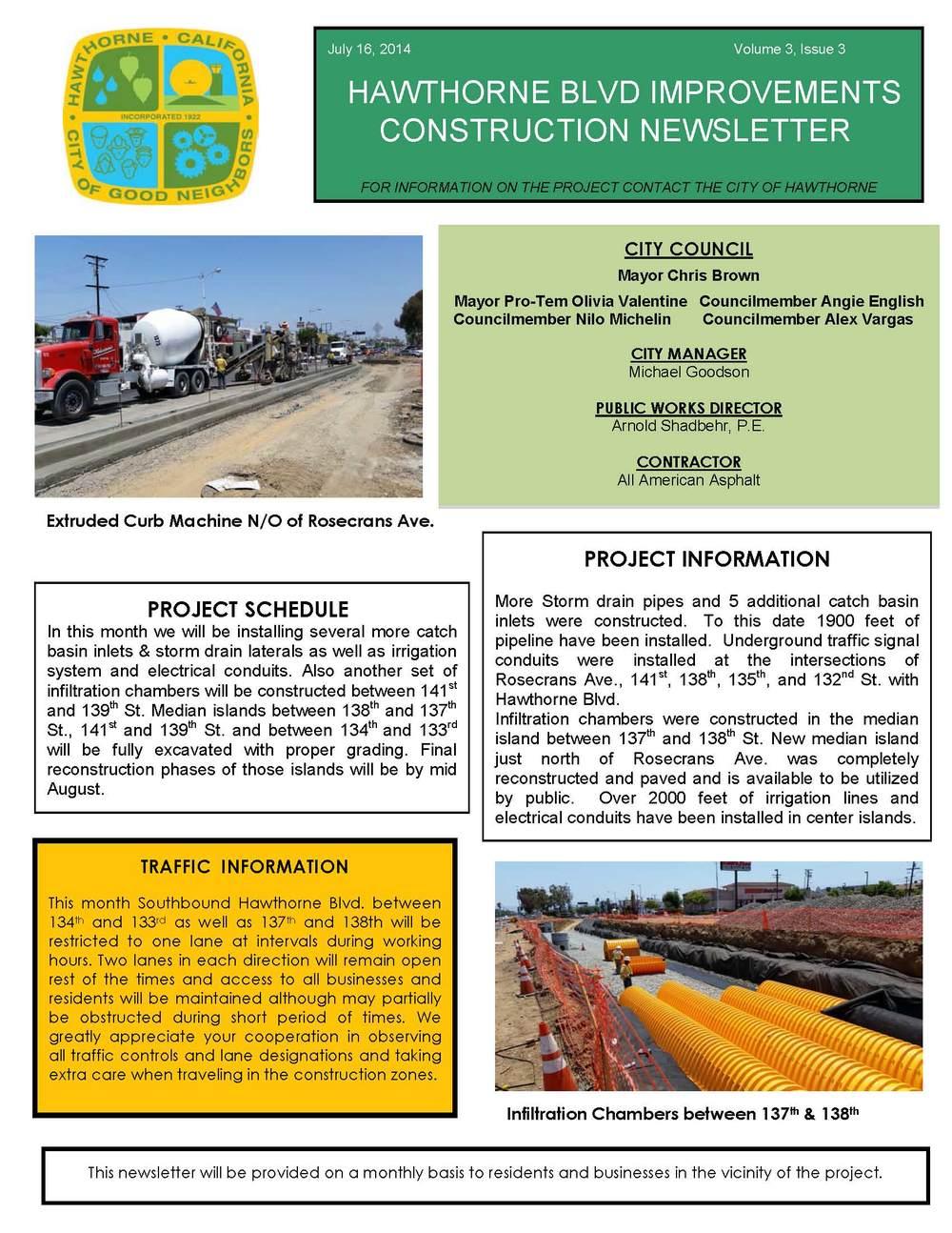 Hawthorne Blvd Improvements Newsletter July 2014