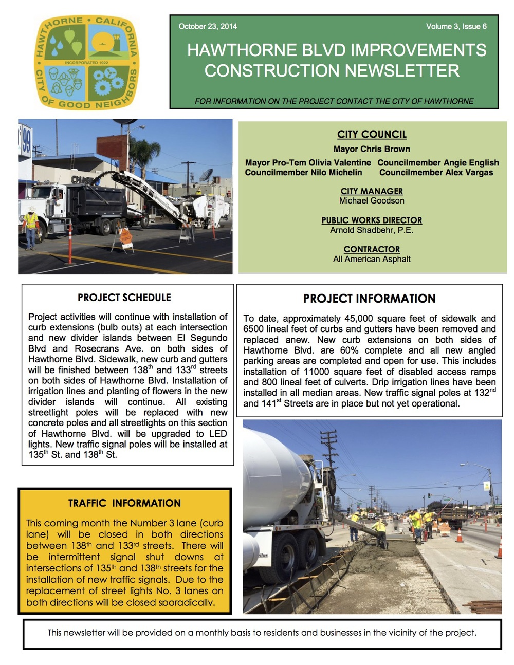 Hawthorne Blvd Improvements Newsletter