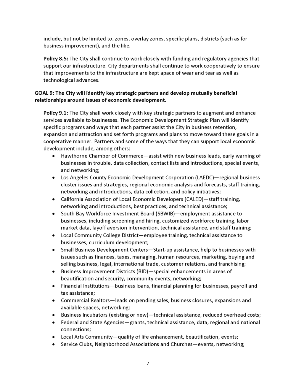 Economic Development Element General Plan Page9