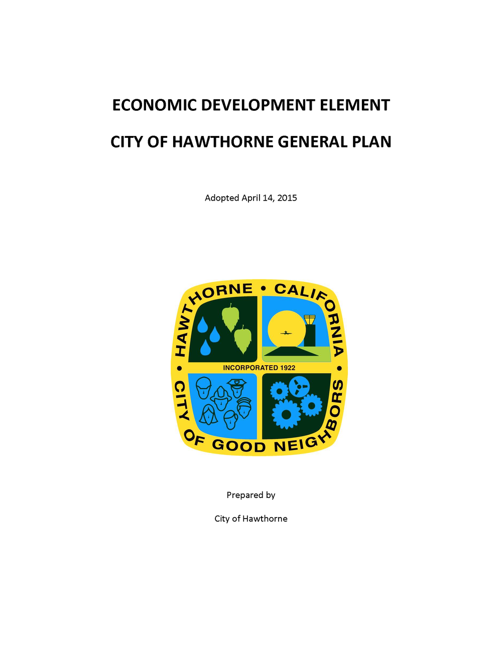 Economic Development Element General Plan