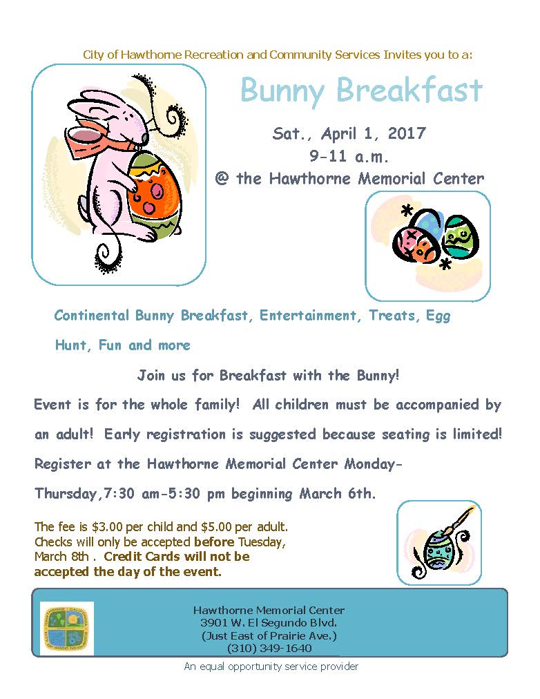 Bunny Breakfast Flyer