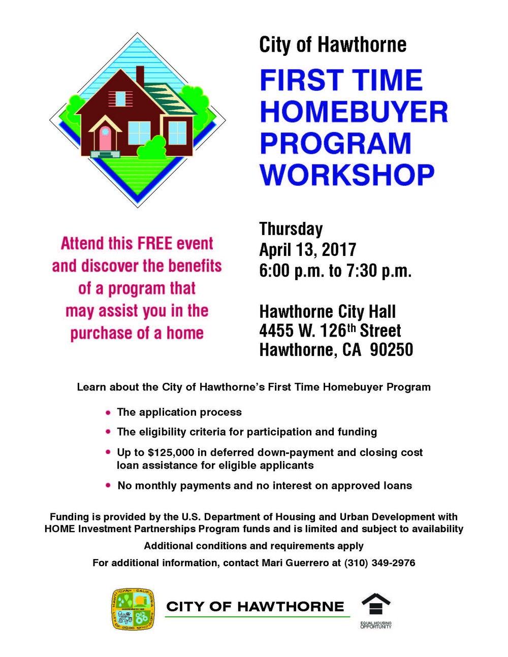 First Time Home Buyer Program Workshop