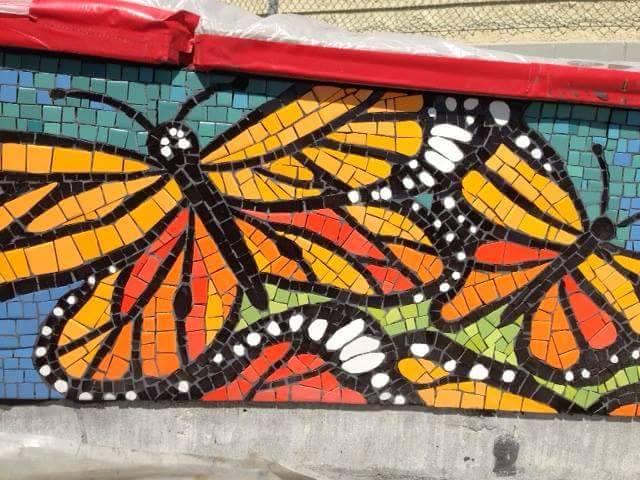 Bicentennial Park Butterfly mural