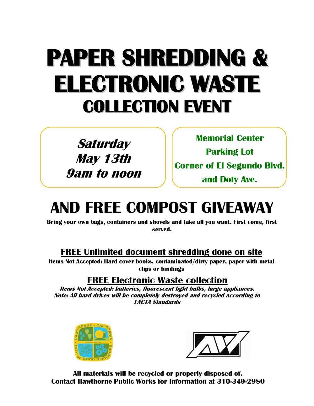 Paper Shredding & Electronic Waste Collecction