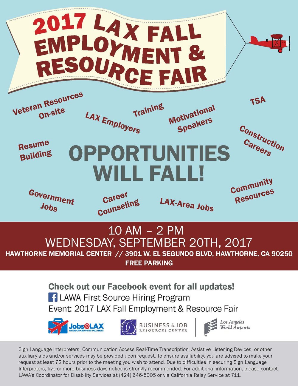 2017 LAX Fall Employment & Resource Fair