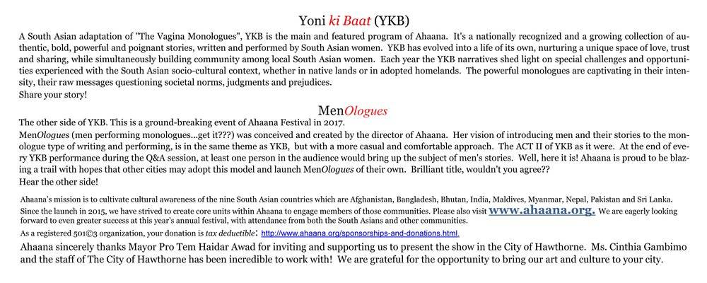 Ahaana Presents Yoni ki Baat & MenOlogues - page 2