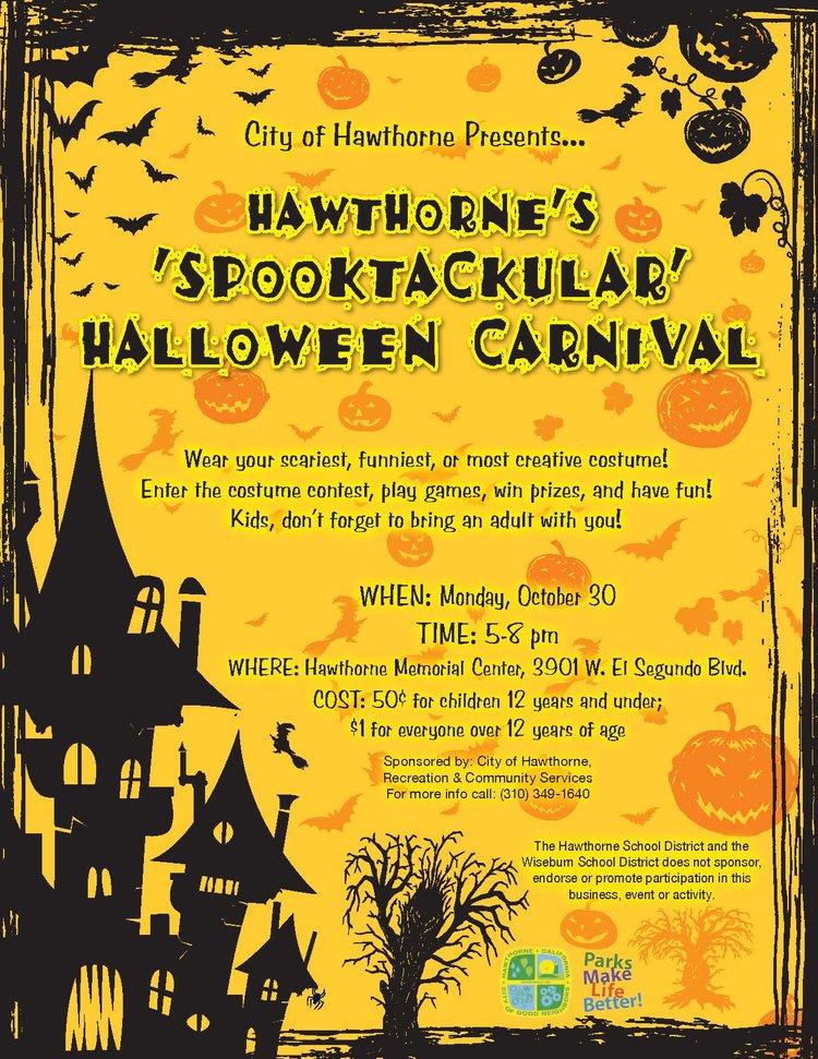 Hawthorne's Spooktackular Halloween Carnival — HAWTHORNE CALIFORNIA