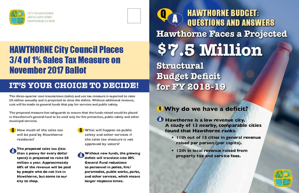 Hawthorne Budget Questions and Answers