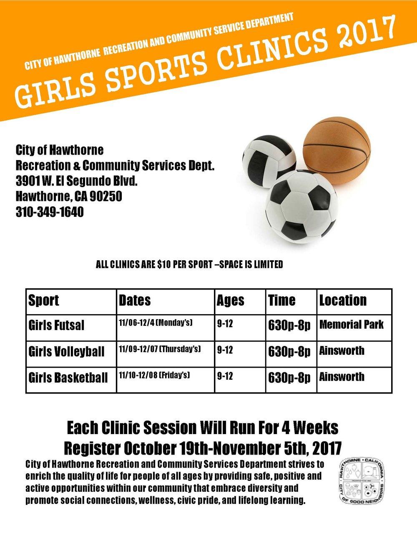 Girls Sports Clinics 2017