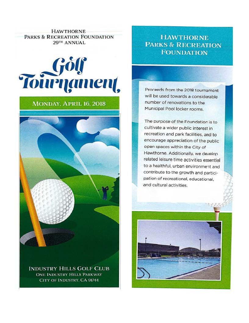 29th Annual Golf Tournament