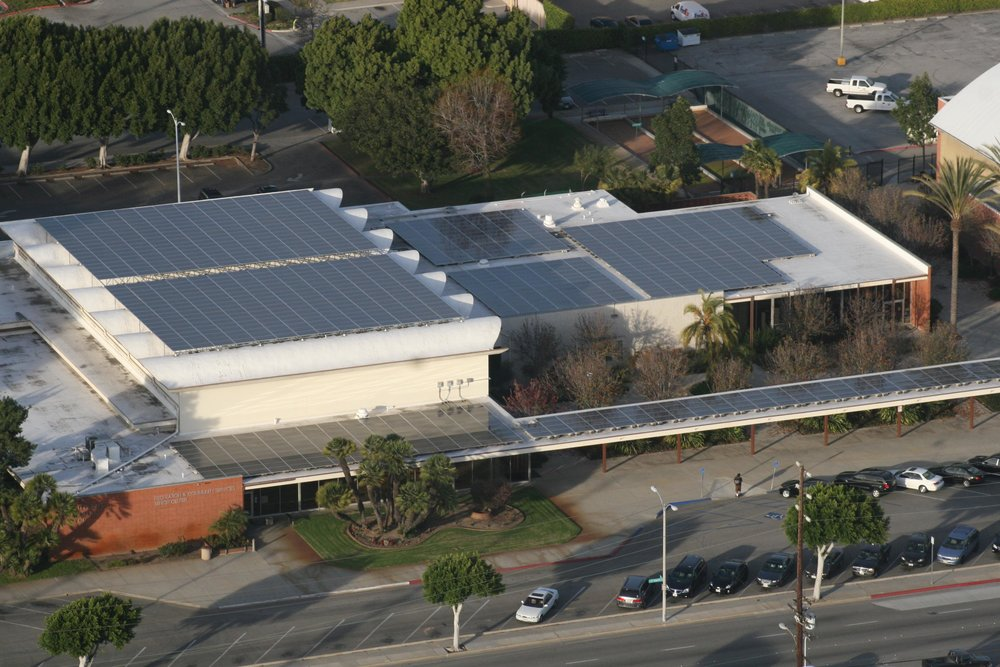 Memorial Center solar panels