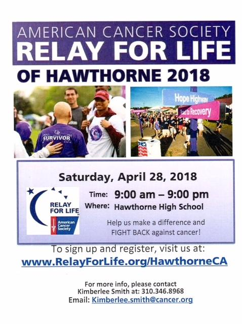 Relay for Life Hawthorne 2018