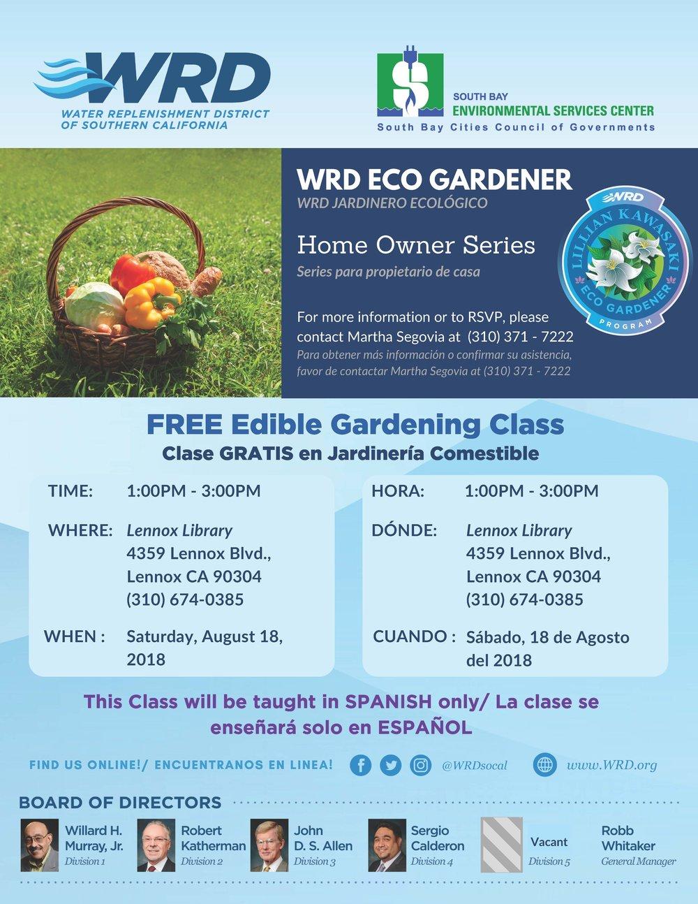 Free Edible Gardening Class