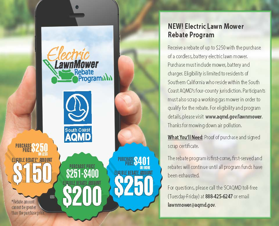 Electric Lawn Mower Rebate Program