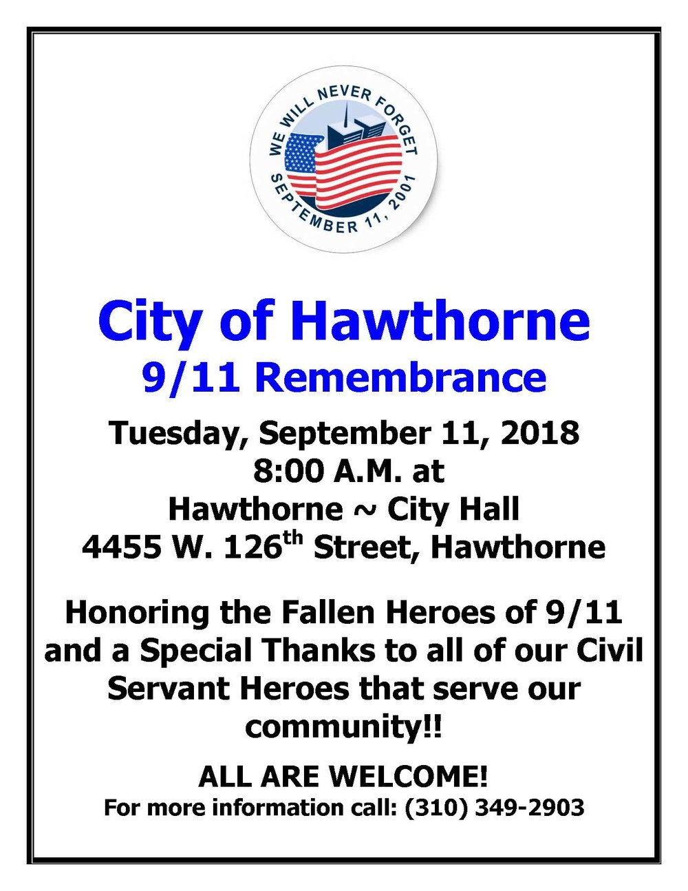 City of Hawthorne 9/11 Remembrance