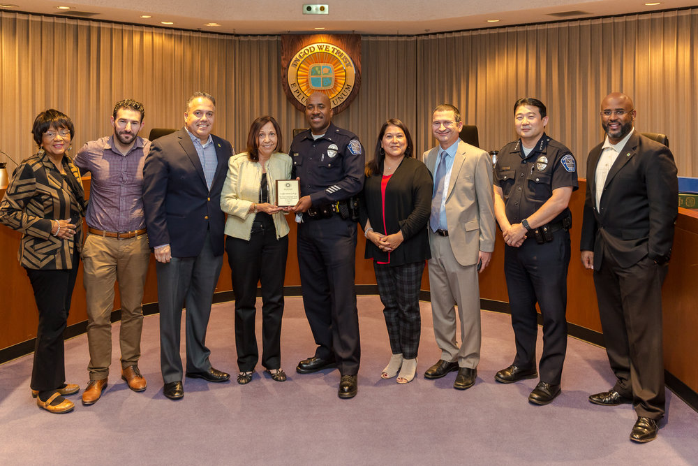 Presentation recognizing the Coffee with a Cop program
