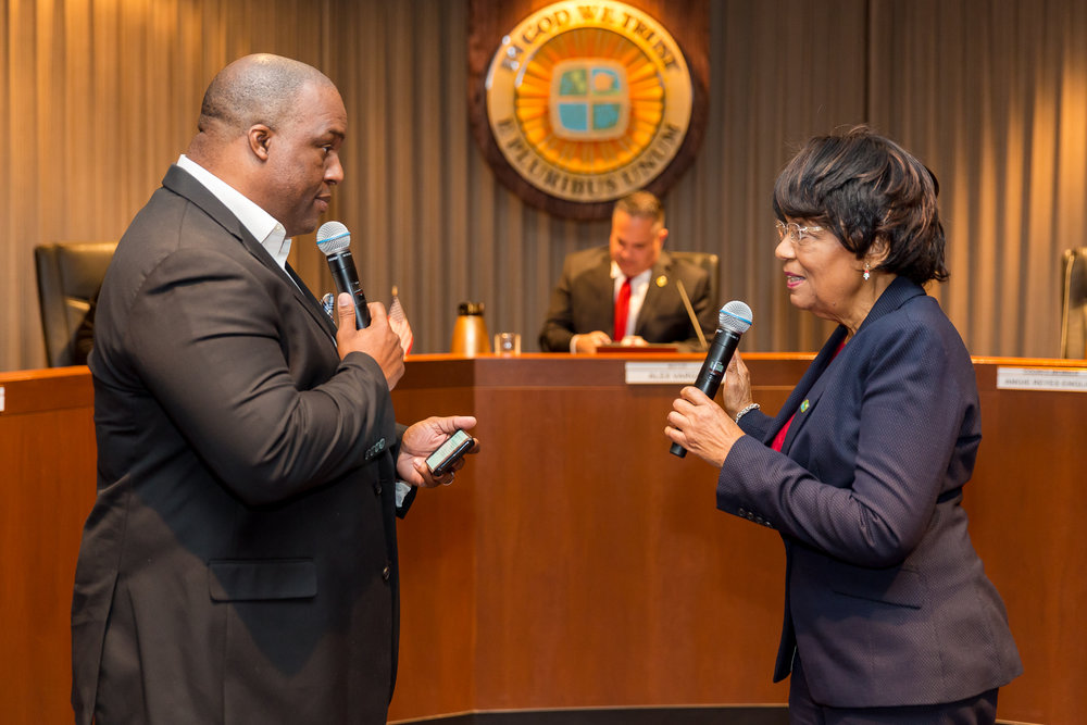 Councilwoman Olivia Valentine oath of office