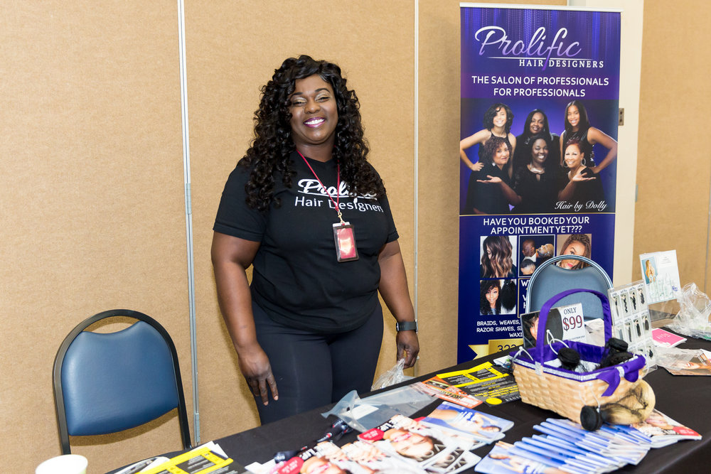 Prolific Hair Desgin booth